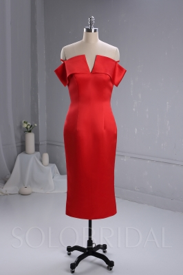 Red Satin Party Dress custom made dresses 724A3447a