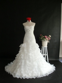 Ivory Organza Pleated Organza Wedding Dresses Online Chinese Shop Wholesale Price Budget Dresses