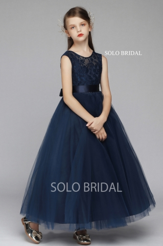 blue lace and tulle flower girl dress 5D7A6089