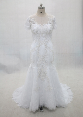 Mermaid Beaded Lace Wedding Dress Discounted Sale