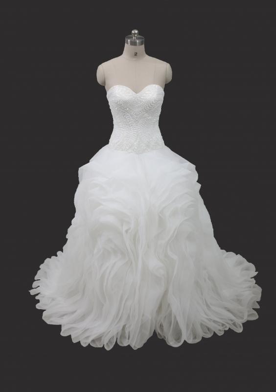 2017 Hot Sale Ball Gown Organza Tulle Ruffle Wedding Dress IMG-4028 ...