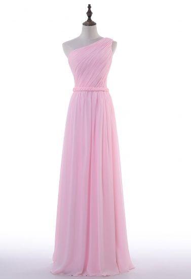 Pink Floor Length Chiffon Simple Design 2017 Prom Dress