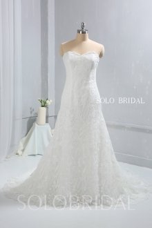 Ivory Strapless Sweetheart Fitted Wedding Dress 724A9715