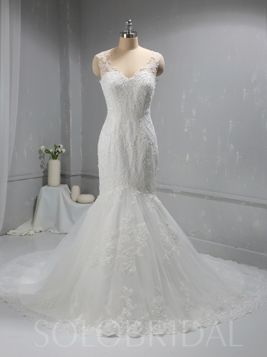 Ivory Mermaid New Design Lace Bridal Gown 724A5026a
