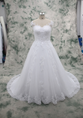 Sequin wedding dress A Line Lace Dress