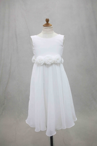 White Chiffon Flower Girl Dress