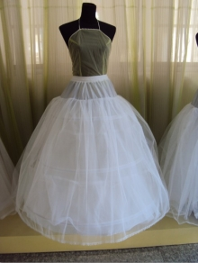 3 hoops crinoline petticoat with 2 layers tulle