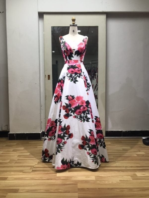Flower proom dress bridemaid dress stock bridemaid dress wholesale price