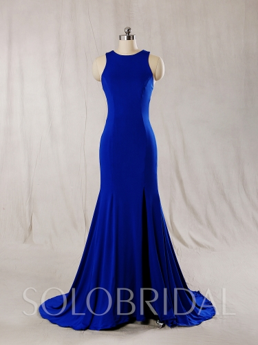 Royal Blue Crepe Bridemaid Dress 724A7270s