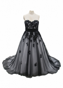 Black Wedding Dress 2017 New Fashion Dress