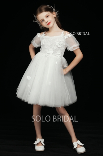 ivory baby flower girl dress short sleeves 5D7A3591