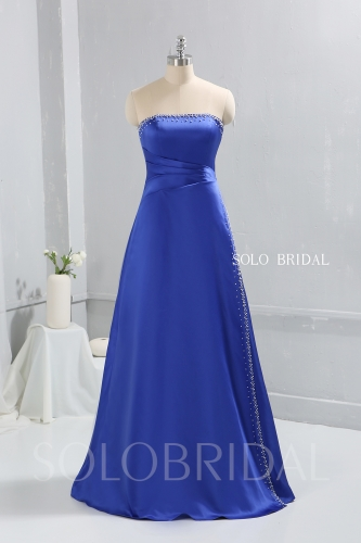 Royal Blue Bridemaid dress by satin sewn pearls 724A9428