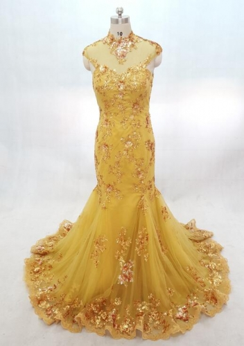 Yellow Sequins Bridemaid Dresses Party Dresses Custom Bridemaid Dresses Solo Bridal Bridemaid Dresses