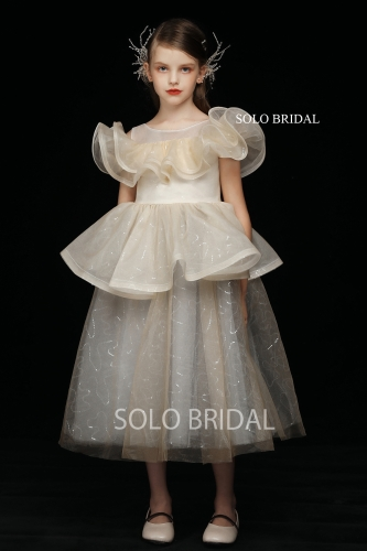 shiny champagne high quality custom made flower girl dress 5D7A4292