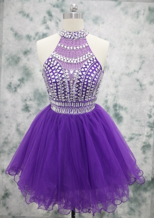 Crystal Sparkle Beaded Cocktail Dress