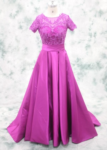 stunning purple prom gown