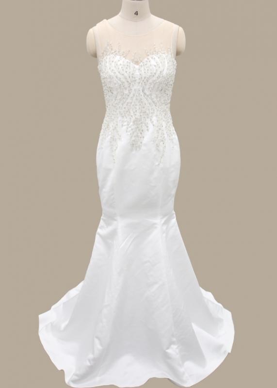 Sparkling Satin Sheath Column Wedding Dress FB-021 Hot Sale Wedding ...