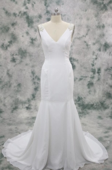 Ivory Wedding Dress with Delicate Beadings