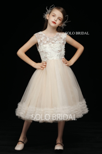light champagne princess flower girl dress 5D7A3990