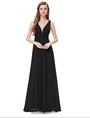 Ever Pretty Sleeveless V-Neck Semi-Formal Maxi Dress