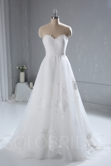 Ivory Small A Line Wedding Dress Summer Wedding Gown 724A4003a