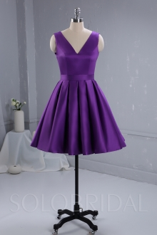 Purple Satin Bridemaid dress 724A3420a