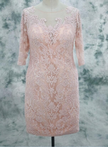 Lace Beaded Mother of Bride Dress Accepted All Colors and Sizes Customized