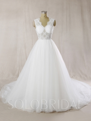 Sexy Bodice Trendy Design Ball Gown Wedding Dress 724A6777s